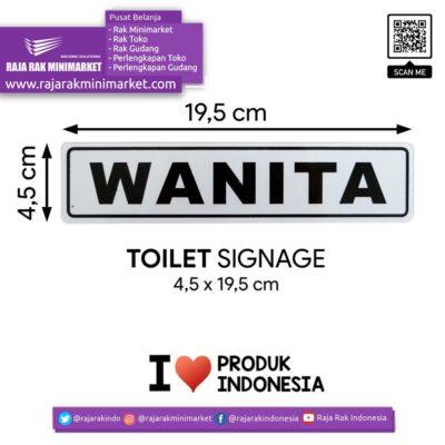 SIGNAGE / LOGO PERINGATAN WANITA 4,5×19,5 CM rajarakminimarket raja rak indonesia raja rak gudang