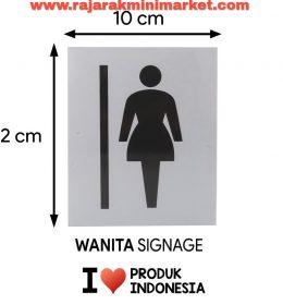 SIGNAGE / LOGO PERINGATAN WANITA PICT 10x12 CM