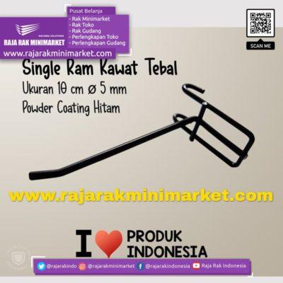 SINGLE RAM 10 CM HITAM / 10 PCS rajarakminimarket raja rak indonesia raja rak gudang