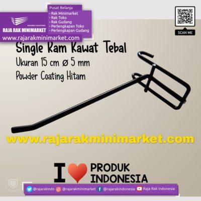 SINGLE RAM 15 CM HITAM / 10 PCS rajarakminimarket raja rak indonesia raja rak gudang