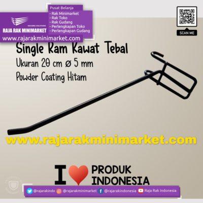 SINGLE RAM 20 CM HITAM / 10 PCS rajarakminimarket raja rak indonesia raja rak gudang