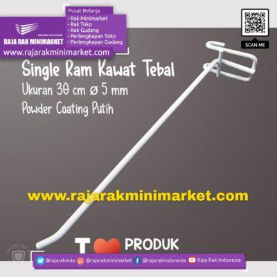 SINGLE RAM 30 CM PUTIH / 10 PCS rajarakminimarket raja rak indonesia raja rak gudang