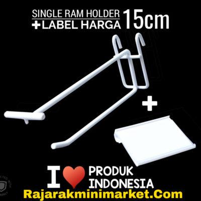 SINGLE RAM HOLDER 15CM + LABEL HARGA