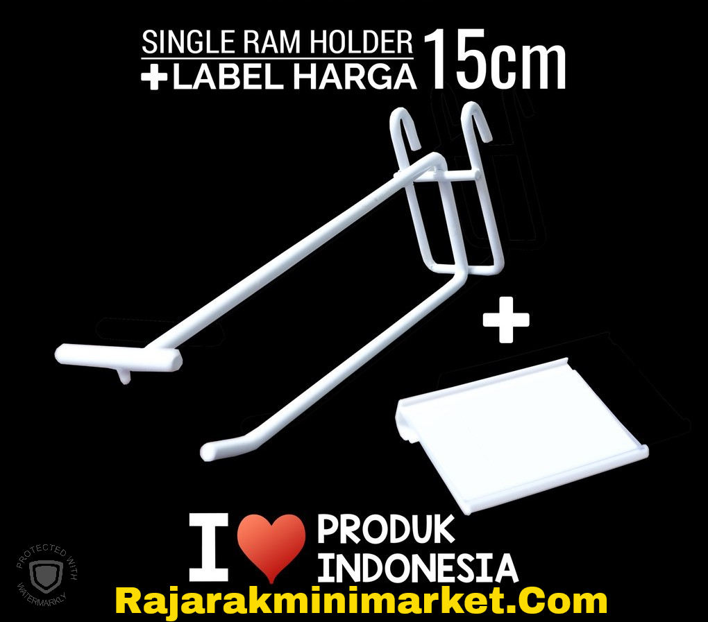 SINGLE RAM HOLDER 15CM + LABEL HARGA