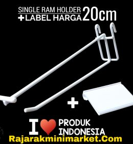 SINGLE RAM HOLDER 20CM / 10 PCS + LABEL HARGA 6CM