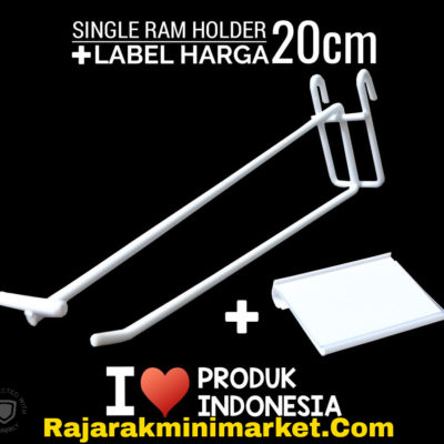 SINGLE RAM HOLDER 20CM / 10 PCS + LABEL HARGA 6CM