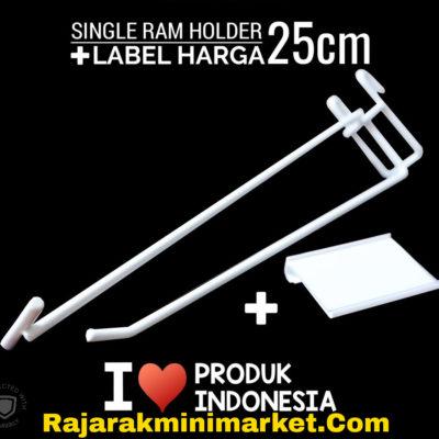 SINGLE RAM HOLDER 25CM / 10 PCS + LABEL HARGA 6CM