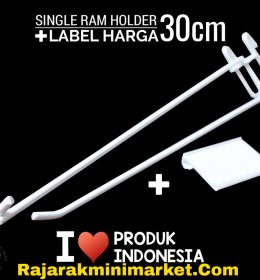 SINGLE RAM HOLDER 30CM / 10 PCS + LABEL HARGA 6CM