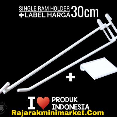 SINGLE RAM HOLDER 30CM / 10 PCS + LABEL HARGA 6CM