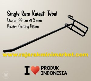 SINGLE RAM 20 CM HITAM / 10 PCS