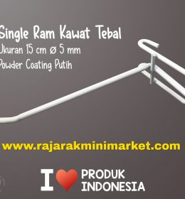 SINGLE RAM 15 CM PUTIH / 10 PCS