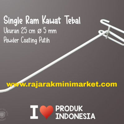 SINGLE RAM 25 CM PUTIH / 10 PCS