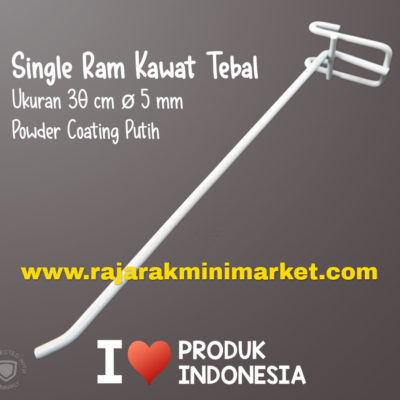 SINGLE RAM 30 CM PUTIH / 10 PCS