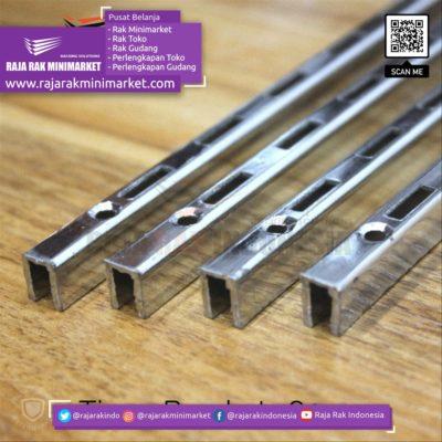 Tiang Bracket P.100 cm Chrome – Rel Bracket Besi – Rail Bracket Dinding rajarakminimarket raja rak indonesia raja rak gudang