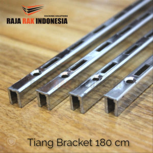 Tiang Bracket 180 cm Chrome - Rel Bracket Besi - Rail Bracket Dinding