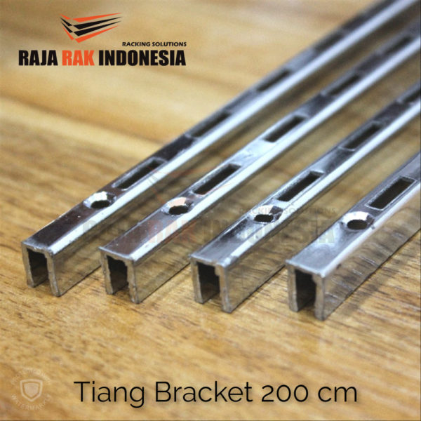 Tiang Bracket 200 cm Chrome - Rel Bracket Besi - Rail Bracket Dinding