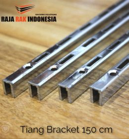 Tiang Bracket 150 cm Chrome - Rel Bracket Besi - Rail Bracket Dinding - RAJA RAK