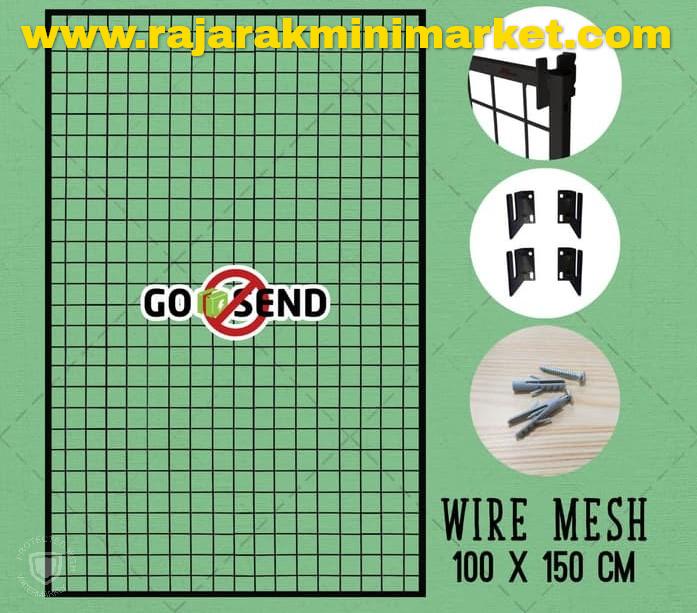 RAM BINGKAI WIREMESH 100x150 CM + H5 WALL HITAM