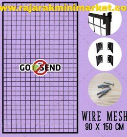 RAM BINGKAI WIREMESH 90x150 CM + H5 WALL HITAM