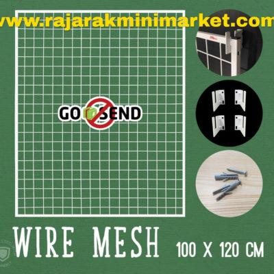 RAM BINGKAI WIREMESH 100x120 CM + H5 WALL PUTIH