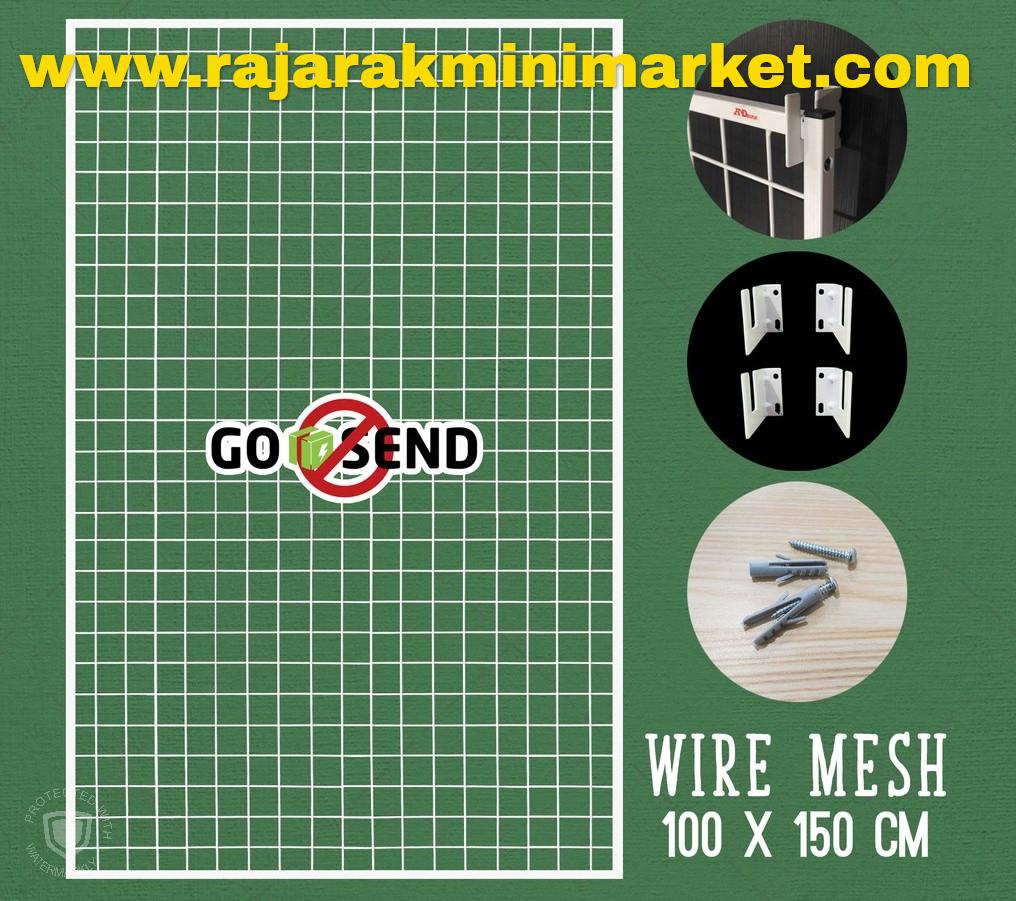 RAM BINGKAI WIREMESH 100x150 CM + H5 WALL PUTIH