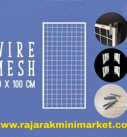 RAM BINGKAI WIREMESH 40x100 CM + H5 WALL PUTIH