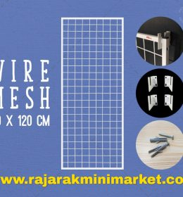 RAM BINGKAI WIREMESH 40x120 CM + H5 WALL PUTIH
