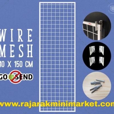 RAM BINGKAI WIREMESH 40x150 CM + H5 WALL PUTIH
