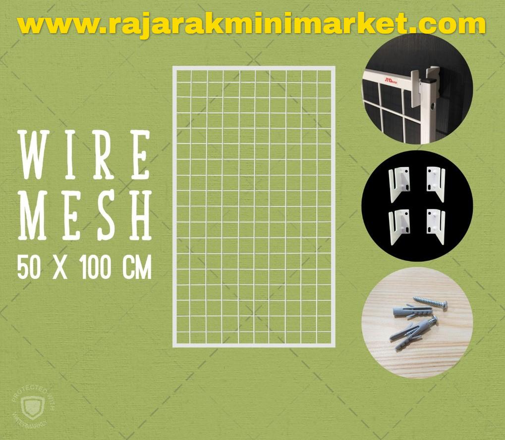 RAM BINGKAI WIREMESH 50x100 CM + H5 WALL PUTIH