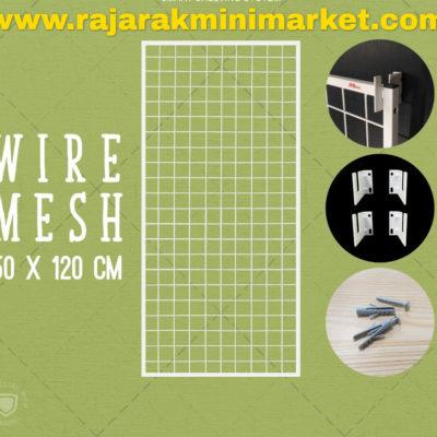 RAM BINGKAI WIREMESH 50x120 CM + H5 WALL PUTIH