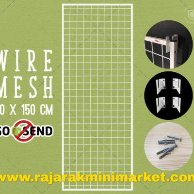 RAM BINGKAI WIREMESH 50x150 CM + H5 WALL PUTIH