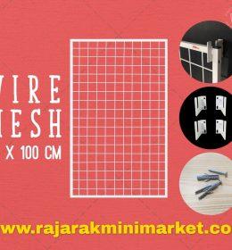 RAM BINGKAI WIREMESH 60x100 CM + H5 WALL PUTIH