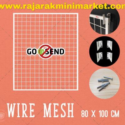 RAM BINGKAI WIREMESH 80x100 CM + H5 WALL PUTIH