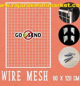 RAM BINGKAI WIREMESH 80x120 CM + H5 WALL PUTIH