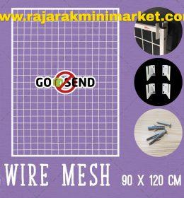 RAM BINGKAI WIREMESH 90x120 CM + H5 WALL PUTIH