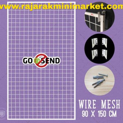 RAM BINGKAI WIREMESH 90x150 CM + H5 WALL PUTIH