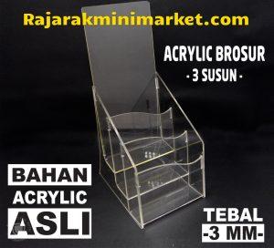 DISPLAY ACRYLIC - AKRILIK BROSUR 3 SUSUN