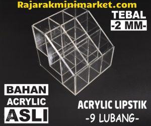 DISPLAY ACRYLIC - AKRILIK DISPLAY LIPSTIK 9 LUBANG