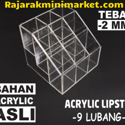 DISPLAY ACRYLIC - AKRILIK DISPLAY LIPSTIK 9 LUBANG