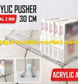DISPLAY ACRYLIC - AKRILIK PUSHER ROKOK OTOMATIS P.30CM