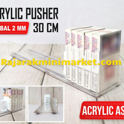 DISPLAY ACRYLIC - AKRILIK PUSHER ROKOK OTOMATIS P.30CM