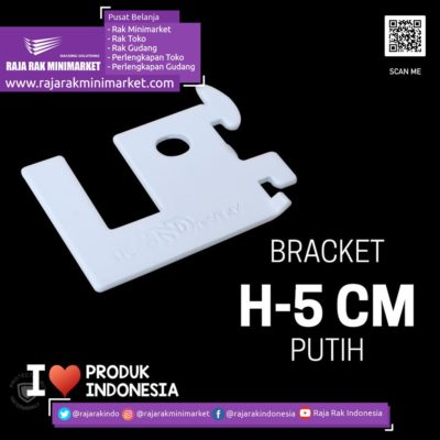 BRACKET PIPA KOTAK H-5 CM PUTIH – SIKU PENYANGGA PIPA KOTAK rajarakminimarket raja rak indonesia raja rak gudang