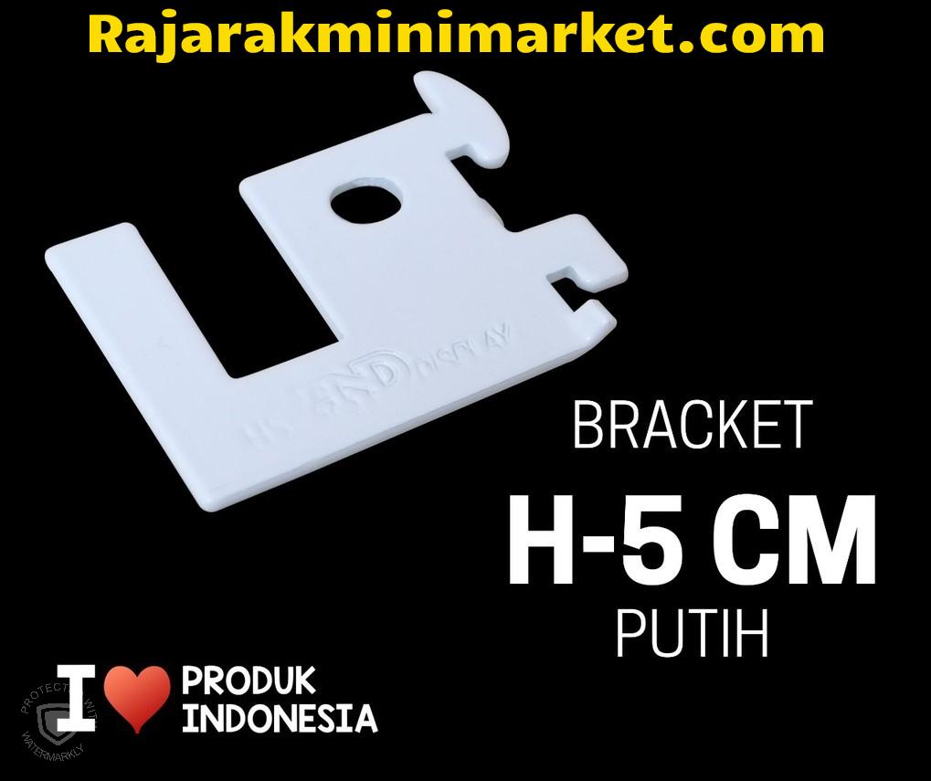 BRACKET PIPA KOTAK H-5 CM PUTIH
