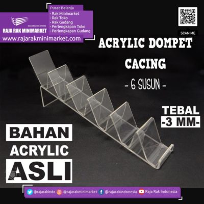 DISPLAY ACRYLIC – AKRILIK DOMPET CACING 6 SUSUN rajarakminimarket raja rak indonesia raja rak gudang