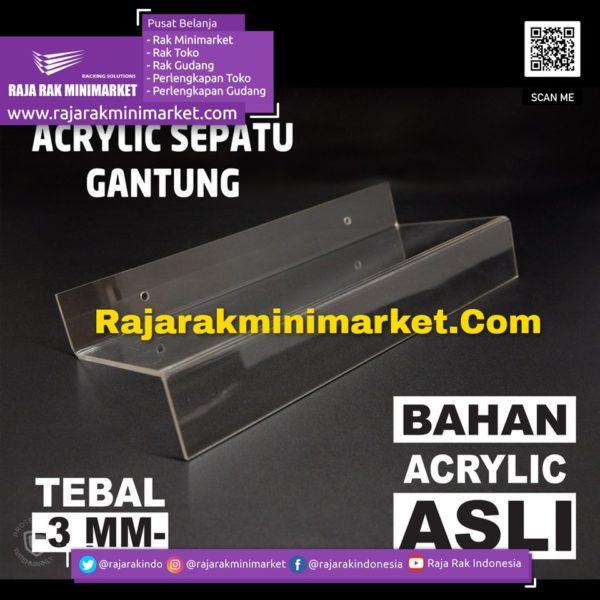 DISPLAY ACRYLIC – AKRILIK SEPATU GANTUNG rajarakminimarket raja rak indonesia raja rak gudang
