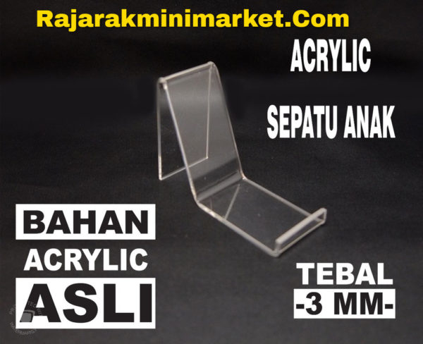 DISPLAY ACRYLIC - AKRILIK SEPATU ANAK