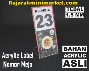 DISPLAY ACRYLIC - AKRILIK NOMOR MEJA