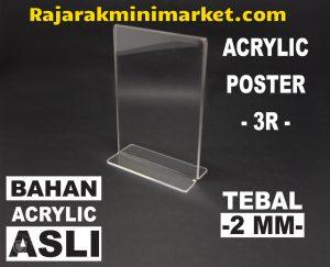 DISPLAY ACRYLIC TIPE DA3R - AKRILIK POSTER UKURAN 3R