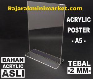 DISPLAY ACRYLIC TIPE DAA5 - AKRILIK POSTER UKURAN A5