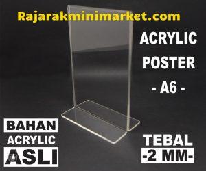 DISPLAY ACRYLIC TIPE DAA6 - AKRILIK POSTER UKURAN A6